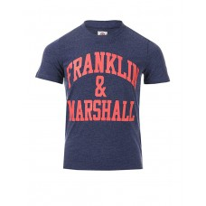 FRANKLIN AND MARSHALL CF Logo Tee Denim
