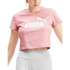 PUMA Amplified Logo Fitted Tee Bridal Rose