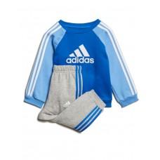 ADIDAS Logo Fleece Jogger Set Blue