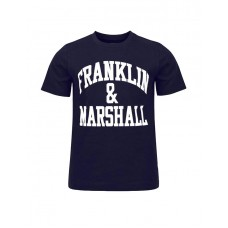 FRANKLIN AND MARSHALL CF Logo Tee Navy