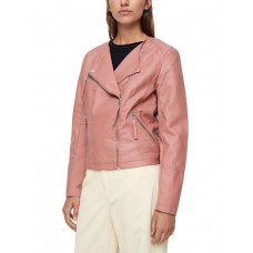 VERO MODA Faux Leather Moto Jacket Rose