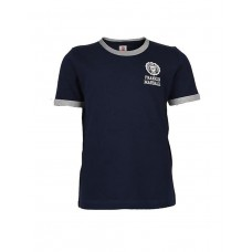 FRANKLIN AND MARSHALL Retro Logo Ringer Navy