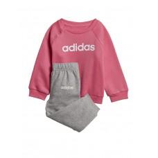 ADIDAS Linear Fleece Jogger Set Pink