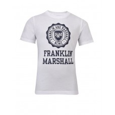 FRANKLIN AND MARSHALL Logo Tee Bright Wh