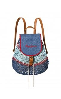 PEPE JEANS Macrame Backpack Blue