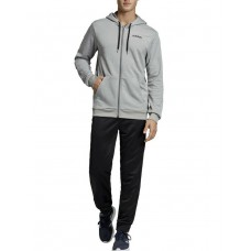 ADIDAS Linear French Terry Hoodie Tracksuit Grey