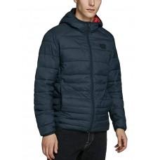 JACK i JONES Hooded Puffer Jacket Black
