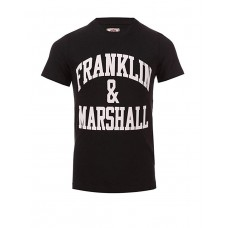 FRANKLIN AND MARSHALL CF Logo Tee Black