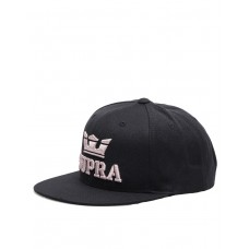 SUPRA Above II Snapback Hat Black/Mauve
