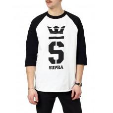 SUPRA Champ 3/4 Sleeve Blouse White