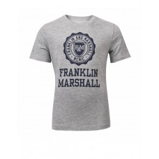 FRANKLIN AND MARSHALL Logo Tee Vintage Grey