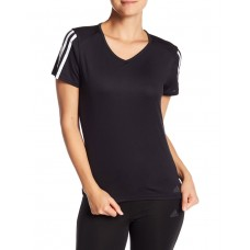 ADIDAS Running 3-Stripes Tee Black
