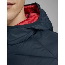 JACK i JONES Hooded Puffer Jacket Scarlet