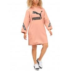 PUMA Classics Tape Hooded Dress Pink