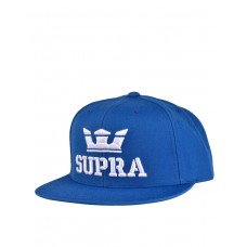 SUPRA Above Snapback Hat Ocean/White