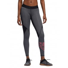 ADIDAS Alphaskin Badge Of Sport Leggings Grey