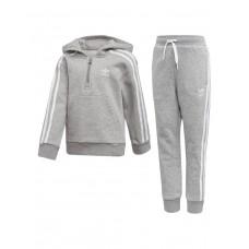 ADIDAS Fleece Hoodie Set Grey
