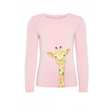NAME IT Giraffe Long Sleeved Blouse Pink