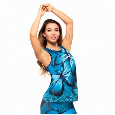 Дамски Потник EX FIT Training Top Blue Butterfly