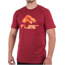 Мъжка Тениска FLAIR Fire Camo Logo T-Shirt