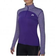 Дамска Блуза MORE MILE Heather Half Zip Ladies Running Top