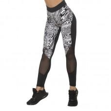 Дамски Клин EX FIT Sport Legging Black & White Spider