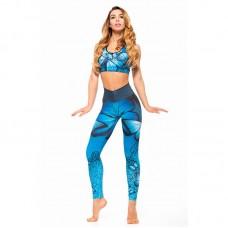 Дамски Комплект Клин/Бюстие EX FIT Training Kit Blue Butterfly