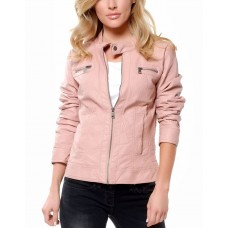 ONLY Bandit Leather Jacket Rose