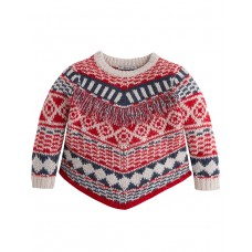 MAYORAL Fringe Knit Sweater